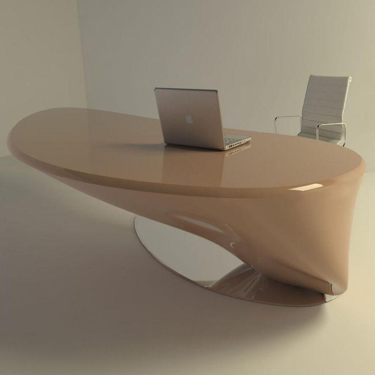 Tavolo+scrivania+per+ufficio+Atkinson+design+moderno+in+resina+200+cm