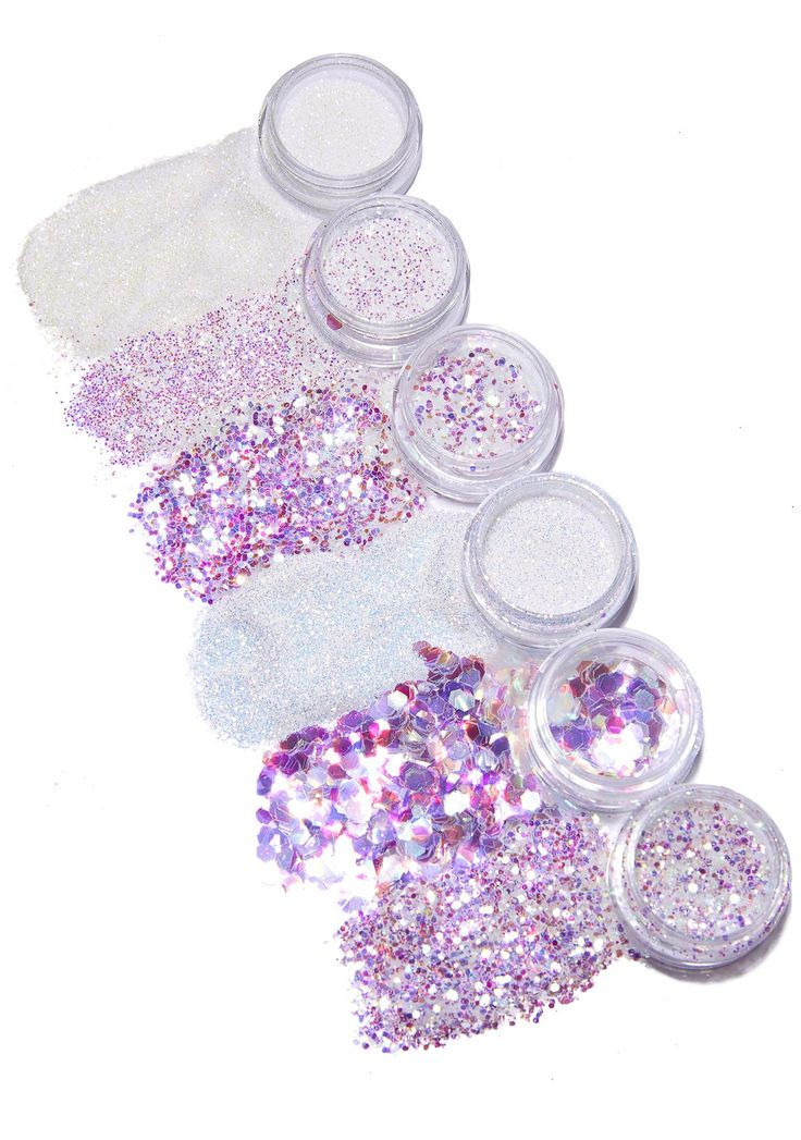 FromNicLove Iridescent Angel Glitter Set cuz you can never ever have enough glitter! This cosmetic set comes with different shades and sizes of loose glitter and gems.