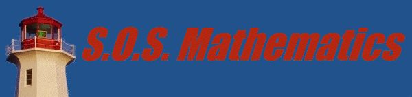 S.O.S. MATHematics free resources for math review material from Algebra to Differential Equations