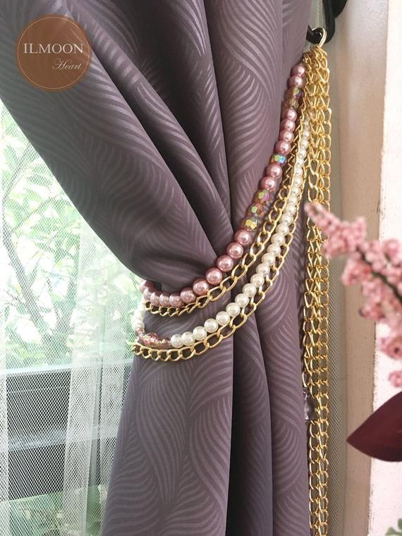 Curtain Tie Backs Blush Decor Blush Pink Curtain Tiebacks Etsy Blush Decor Pink And Gold Curtains Curtains