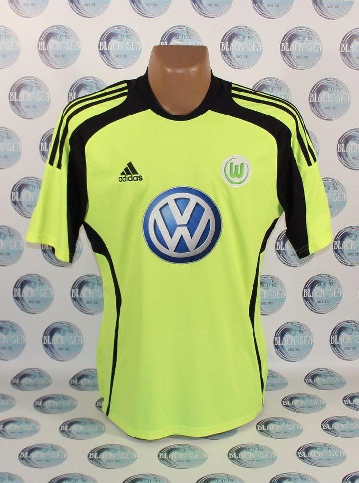 VFL WOLFSBURG 2009 2010 FOOTBALL SOCCER SHIRT JERSEY TRIKOT CAMISETA ADIDAS L #adidas #VfLWolfsburg