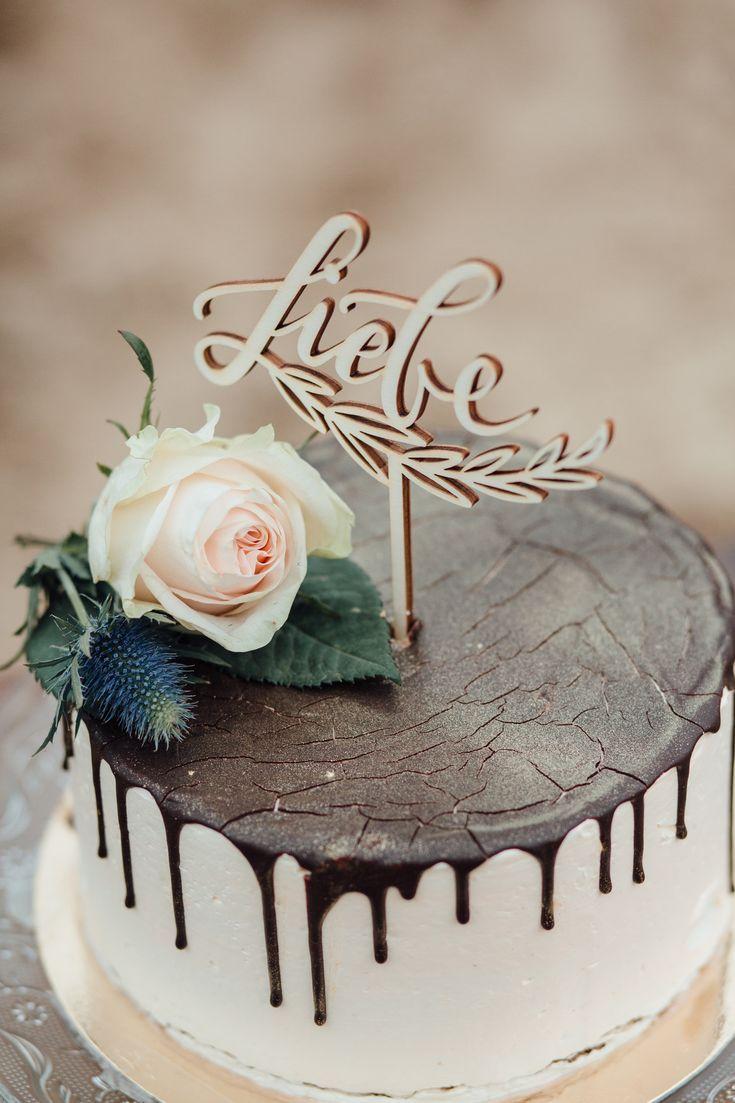 Cake Topper Und Tortenfigur Liebe Für Hochzeit Aus Holz