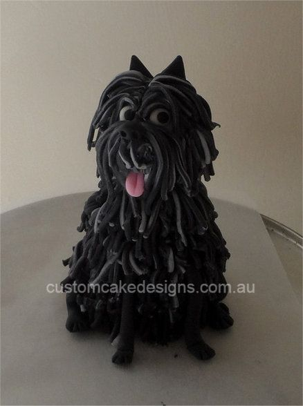 Hairy Maclary Sugar Topper Cake by customcakedesignsoz