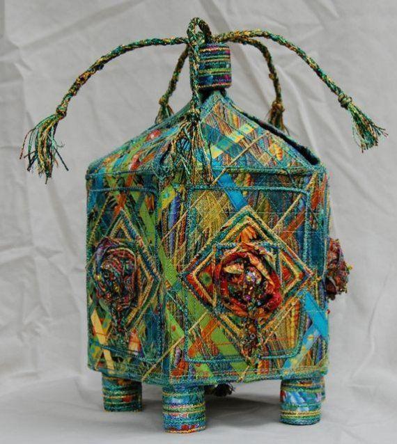 Handmade textile box