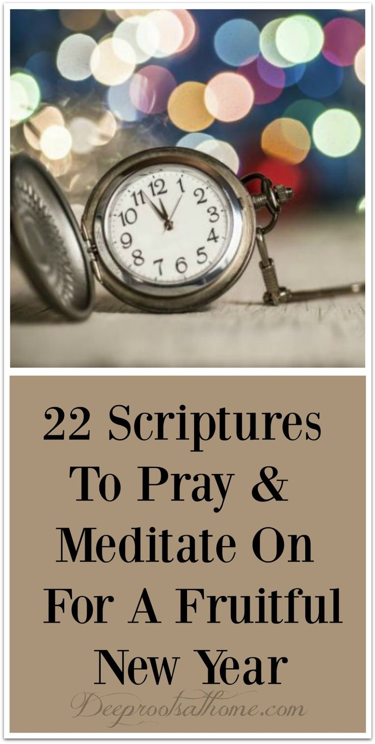 20 Scriptures To Pray & Meditate On For A Fruitful New Year