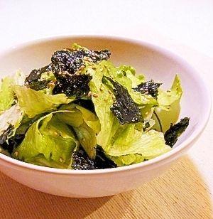 超簡単!レタスと韓国海苔のサラダ
