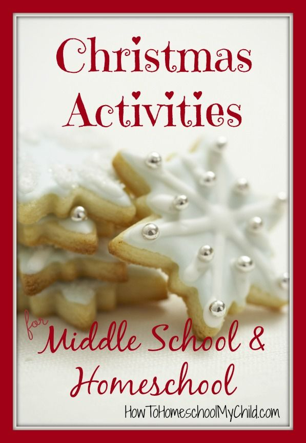 Christmas activities for middle school, homeschool & elementary - writing, math, science, history, art, reading ...from HowToHomeschoolMyChild.com