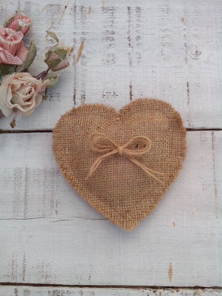Burlap Heart Favor - Burlap Heart Favour - Wedding Favor - Rustic Heart Favour- Rustic Wedding Decor - Heart Favor - Set of 30 - by AJRUSTICCREATIONS on Etsy