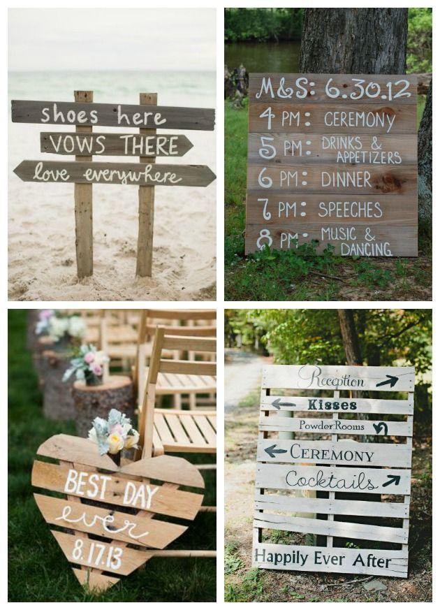 idee divertenti per matrimonio country chic con pallet wedding country