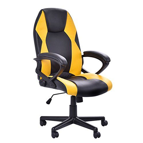 cheap giantex pu leather highback racing style executive office desk chair gaming chair