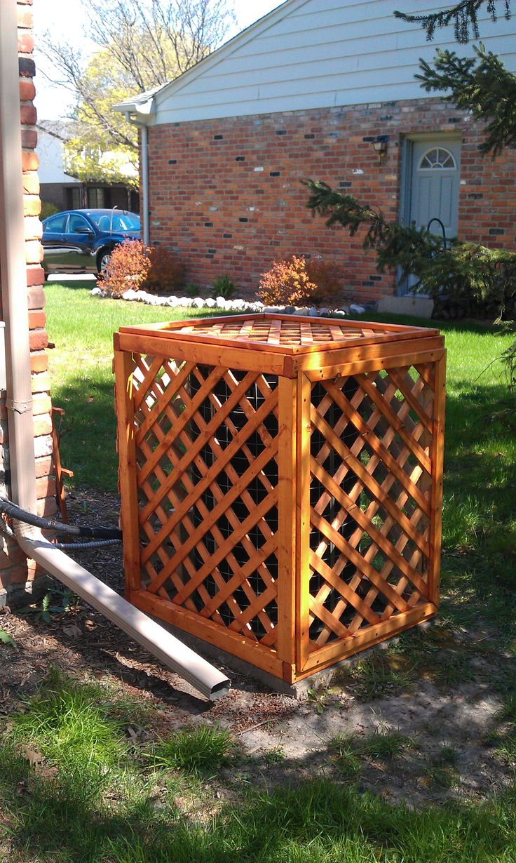Lattice Air Conditioner Screen 25 Best Diy A C Ideas Images On Pinterest Air Conditioners