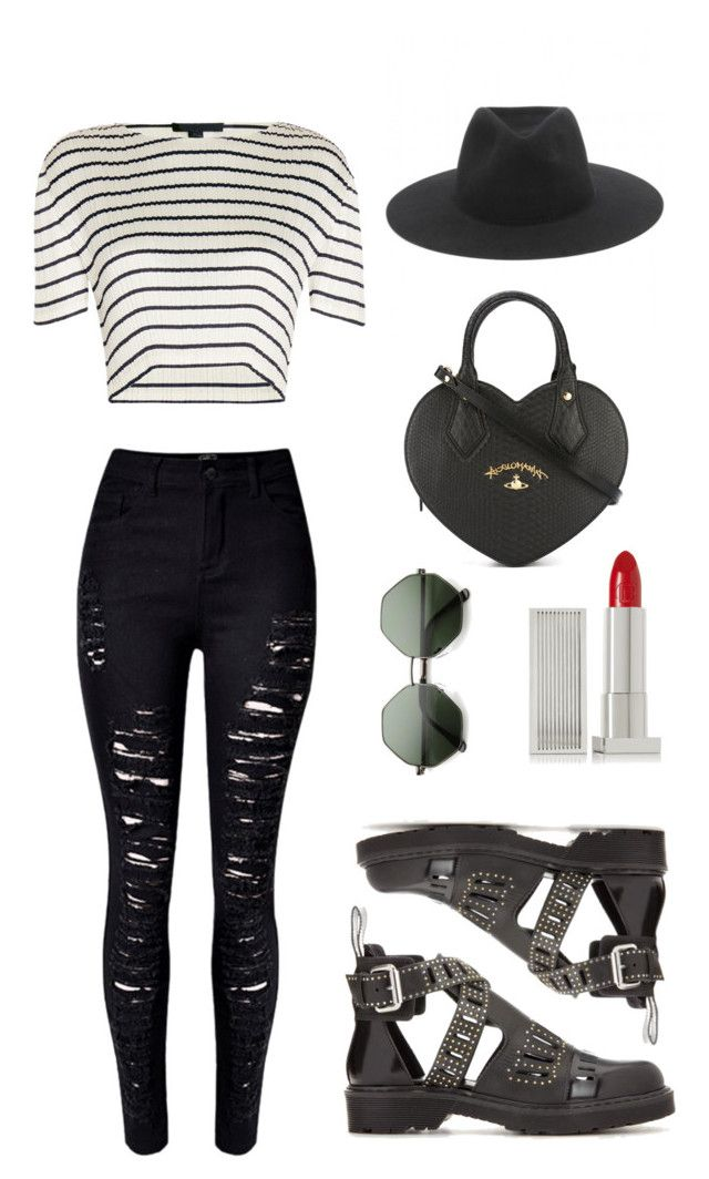 """""""Parisian"""" by girlbehindthebluedoor1590 on Polyvore featuring WithChic, Alexander Wang, McQ by Alexander McQueen, rag & bone, Vivienne Westwood and Lipstick Queen"""