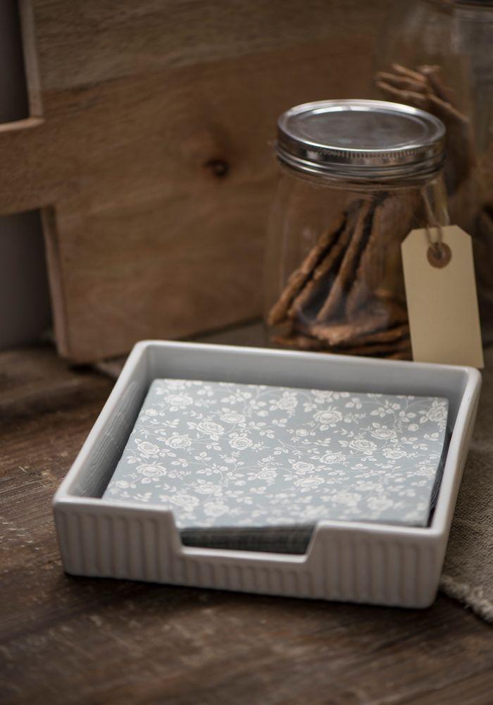 Ib Laursen Mynte Serviettenhalter Serviettenspender Keramik French Grey - Grau