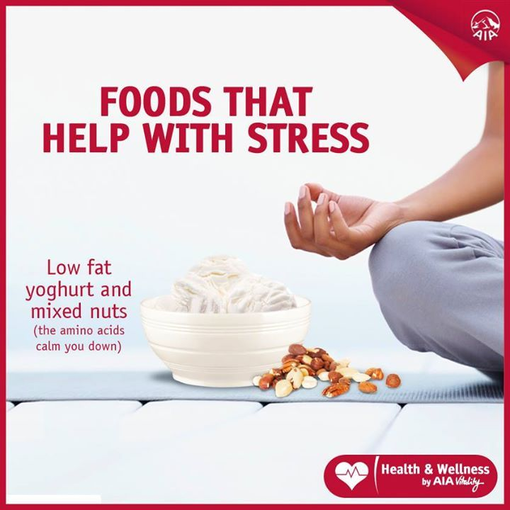 Did you know that amnio acids help to calm you down?  Stays stress free with HealthyFood™ items from Cold Storage https://www.aiavitality.com.sg/memberportal/pdf/HealthyFood_list.pdf