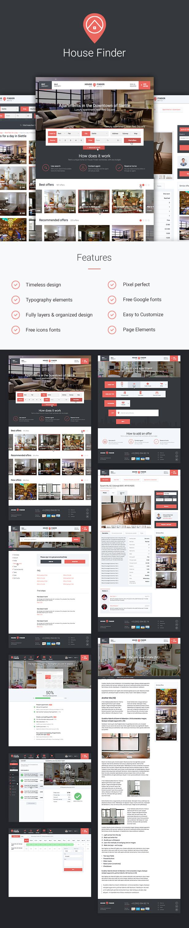 House Finder is a high quality template. This template will be helpful for those who are going to make a startup in real estate spere or are going to create a large real estate database o...