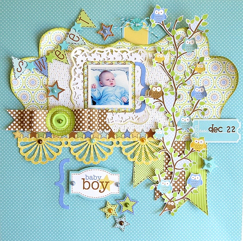 Snips & SnailsScrapbook Ideas, Crafts Ideas, Sweets Baby, Baby Cards, Scrapbook Inspiration, Baby Boys Layout, Scrapbook Layout, Doodlebug Scrapbook, Doodlebug Design