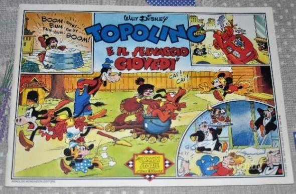 TOPOLINO E IL SELVAGGIO GIOVEDI' strisce giornaliere dal 15 gennaio al 20 aprile 1940 Le Grandi Storie di Walt Disney Mondadori 1988 spillato 34.6 x 24.6 cm   Conservazione: BUONO/OTTIMO!   n. 9 del marzo 1988   Ha fatto parte di una collezione privata, sciolta in seguito per cambio di tematica   E' un buon pezzo di Walt Disney Italia a un prezzo competitivo e la spedizione è compresa nel prezzo.