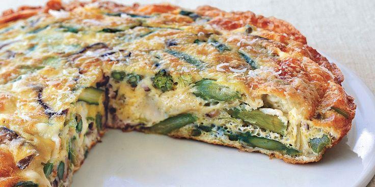 Leek and Asparagus Frittata recipe | Epicurious.com