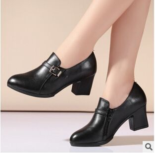 (44.10$)  Watch now  - 2017 autumn new women's genuine leather shoes, business suits woman shoes, fashion and comfortable woman shoes free shipping