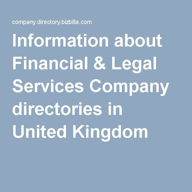 Information about Financial & Legal Services Company directories in United Kingdom