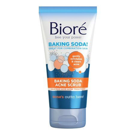 Biore Baking Soda Acne Scrub, 4.5 oz