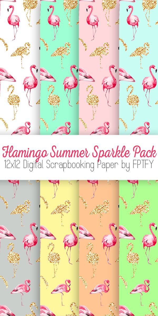 Flamingo Digital Paper: Here's a fun summer digital pack for you, flamingo style! A wonderful addition to your digital scrapbooking paper collection, in lots of fun fresh colors for you to play with :) I got the idea for a full blown flamingo pack from my Summer Love Collection since you all loved the flamingos …