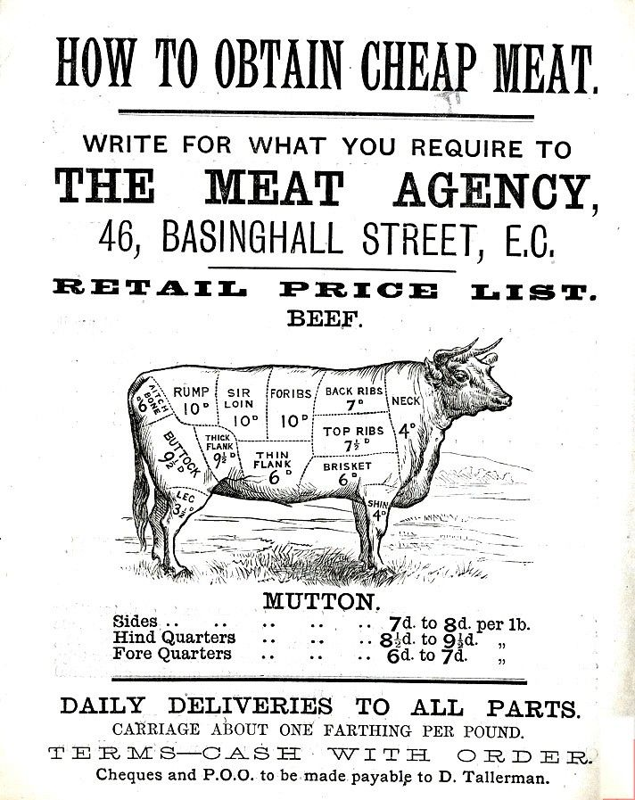 Printed Matter - Advertisement - Cheap meat.jpg 712×897 Pixel