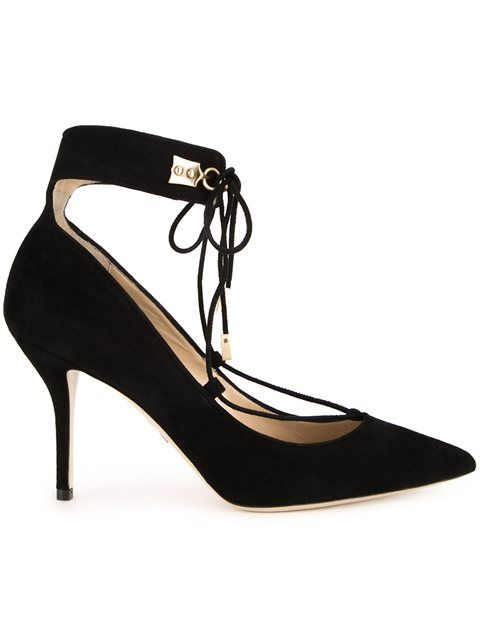 PAUL ANDREW lace-up pointed toe pumps. #paulandrew #shoes #flats