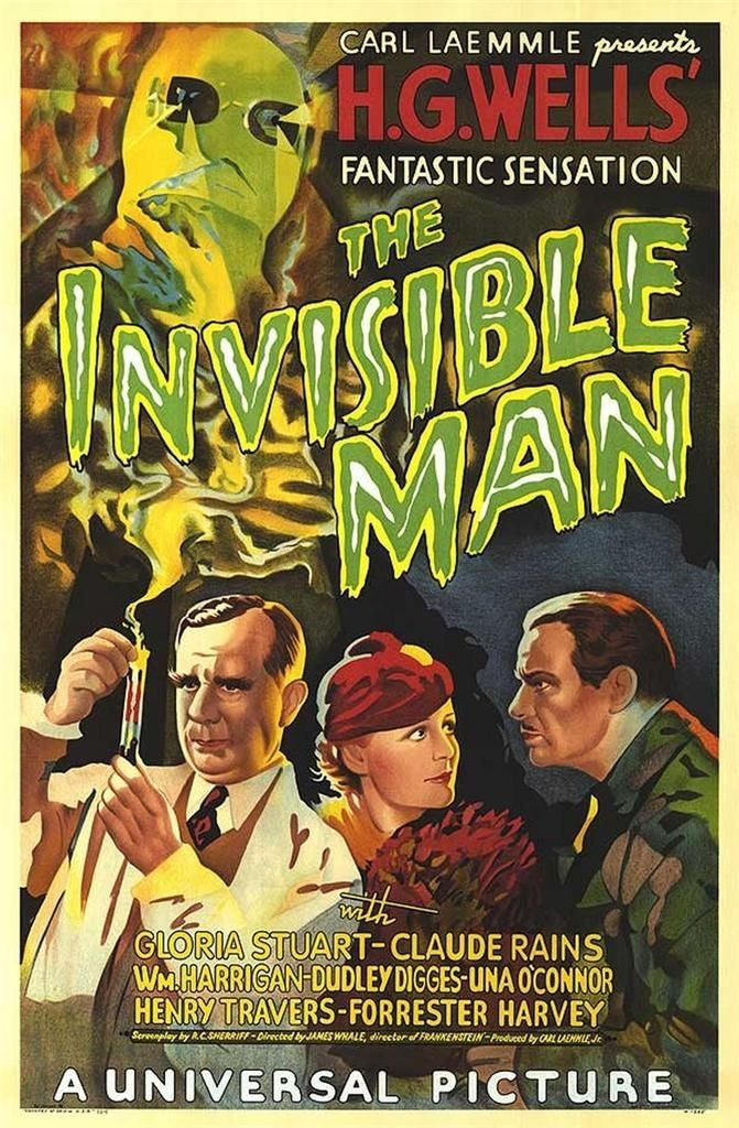 The invisible man 1933 vintage horror movie poster