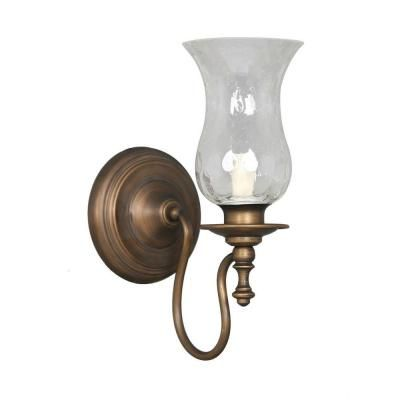 Hampton Bay Grace 1 Light Rubbed Bronze Wall Sconce