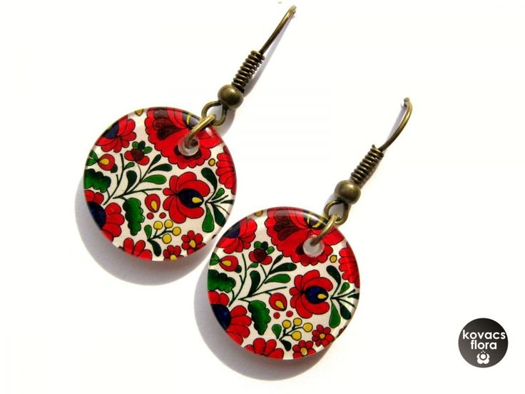 Matyó rózsás fülbevaló by http://www.breslo.hu/kovacsflora/shop