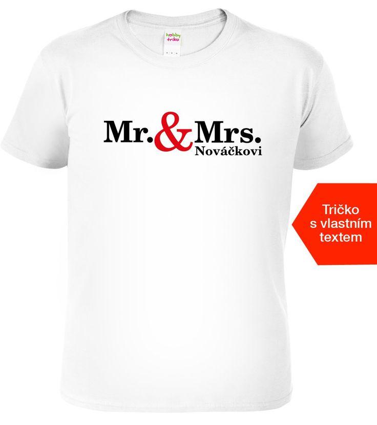 Vtipné svatební tričko pro ženicha s nápisem Mr.