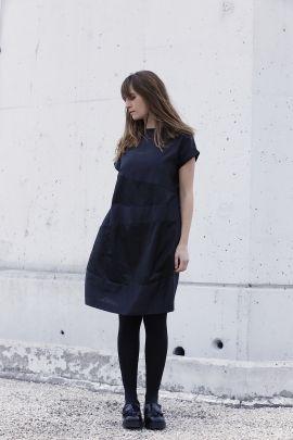 Black silk dress | Adelina Ivan Studio