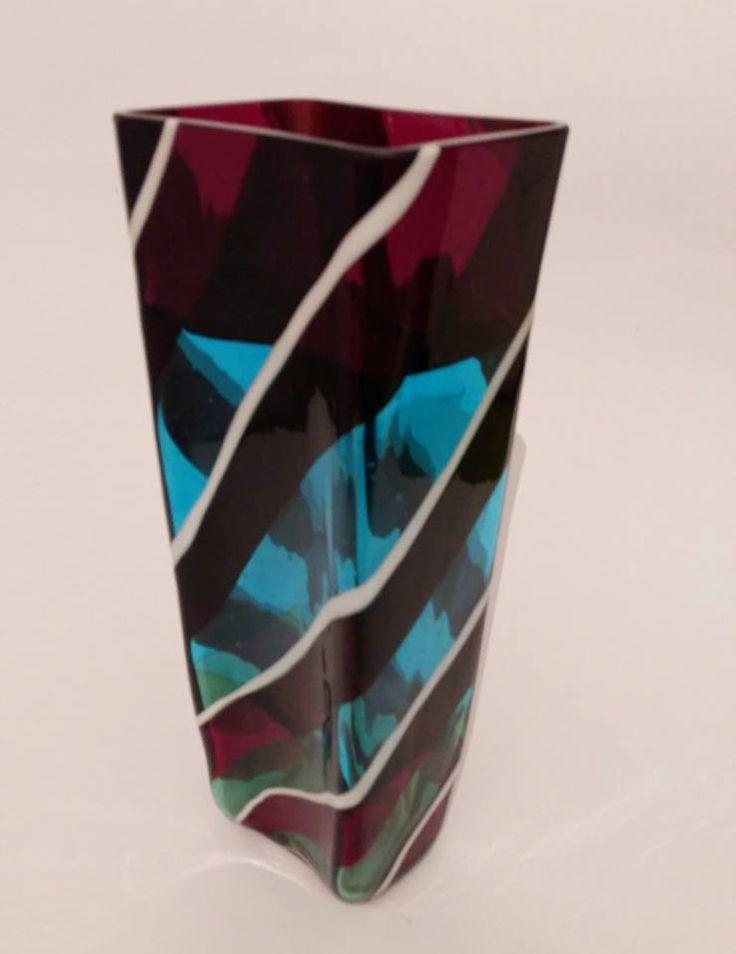 Scozzese vase Fulvio Bianconi Venini 1954  Acid signature: Venini Murano talia  #Bianconi #Vase #Venini #Murano