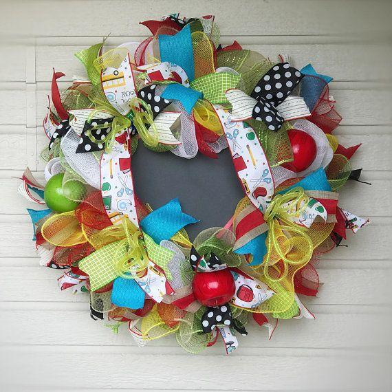 READY TO SHIP: Teacher Appreciation Deco Mesh Wreath School