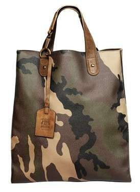 Trussardi 1911 Mans Up With Camo Print Man Totes #fashion trendhunter.com