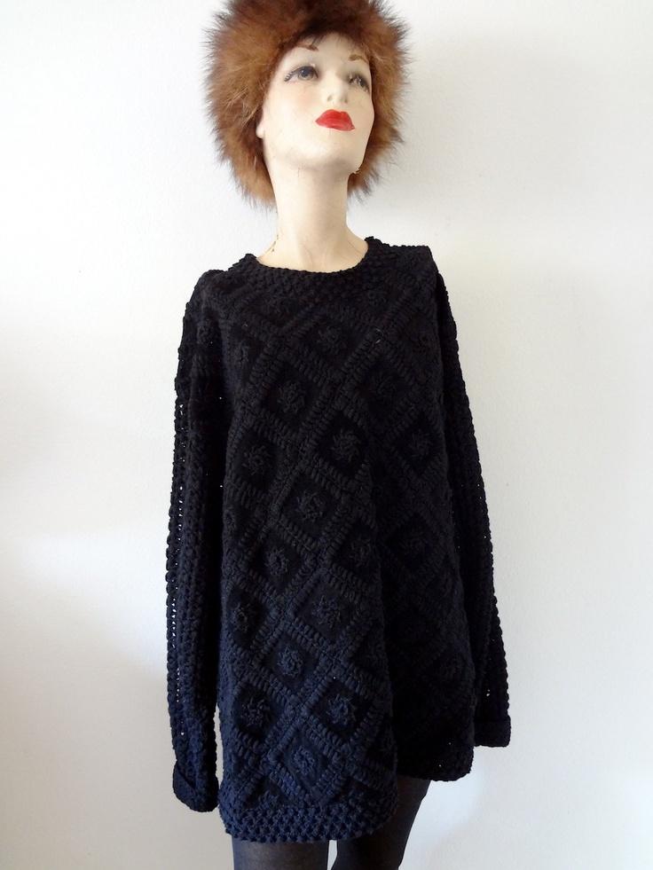 crochet sweater by Vivienne Tam East Wind Code / designer vintage. $56.00, via Etsy.