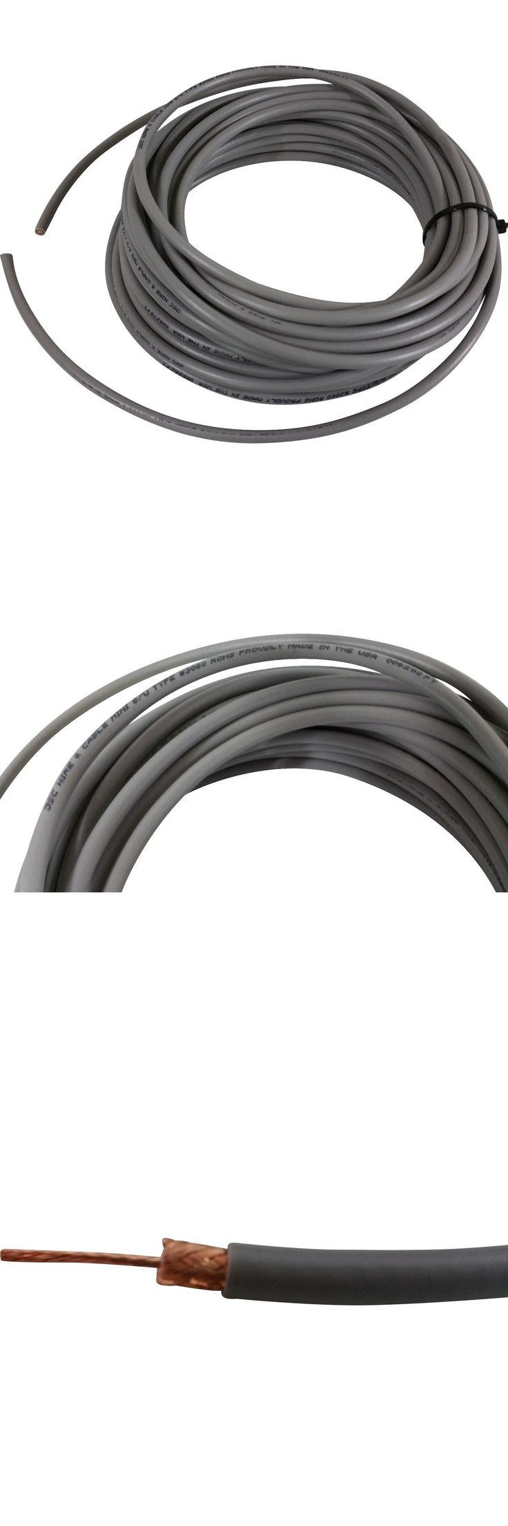 Coax Cables and Connectors: Jsc Wire And Cable Rg8x 95% Shield 100Ft Coax Cable Cb,Ham,Scanner Radios Usa Made -> BUY IT NOW ONLY: $59.99 on eBay!