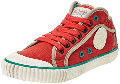 Pepe Jeans London INDUSTRY BASIC, Damen Sneakers, Rot (254PEPPER RED), 36 EU - http://uhr.haus/pepe-jeans/pepe-jeans-london-industry-basic-damen-sneakers