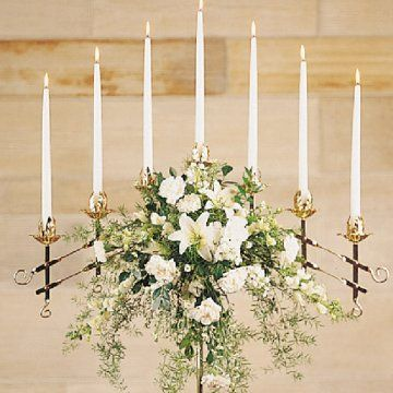 Image detail for -Flowers for Wedding Candelabras - Church Decorations- take off those ugly flowers and I've got a nice vintage look for the ceremony
