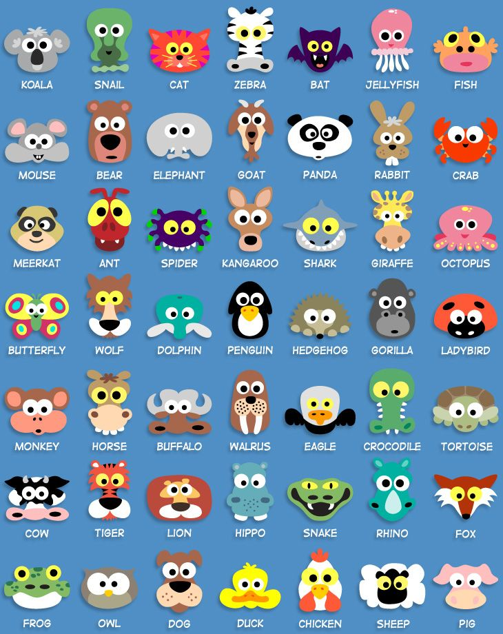 Printable animal masks-might come in handy.