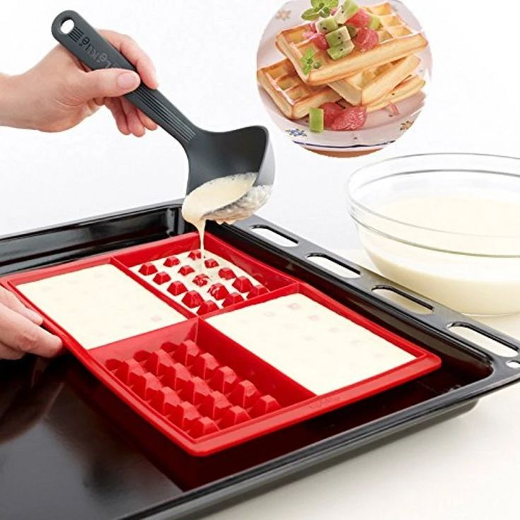 Waffle Makers For Kids Silicone Cake Mould Waffle Mould Silicone Bakeware Set Nonstick Silicone Baking Mold