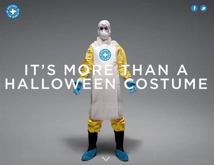 More than a costume campaign エボラ熱に苦しむアフリカのために、ハロウィンのコスチュームにドネーション用の医師のコスチュームを導入。