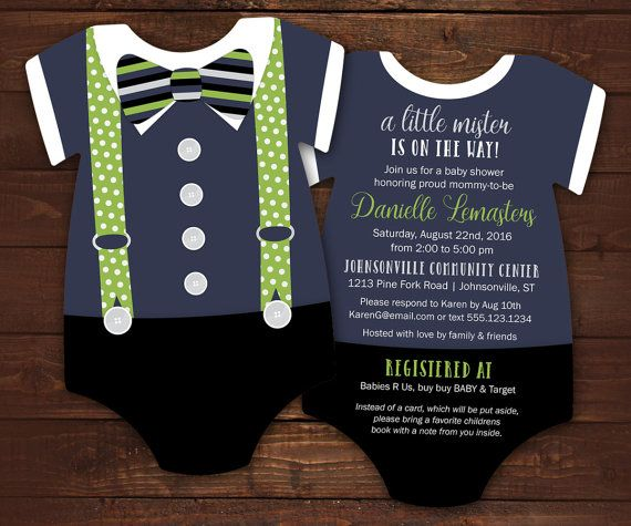 10 Bow tie Baby Shower Invitations Navy and by LittleBeesGraphics