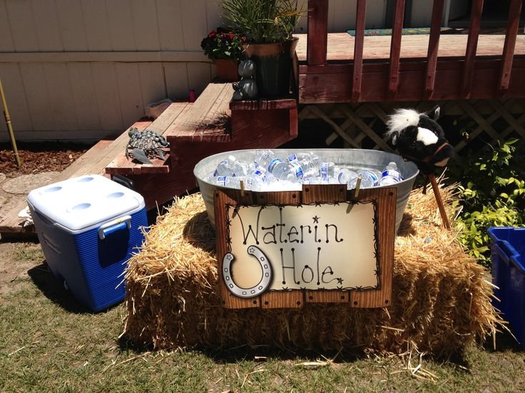 Cowgirl Party - get wash tubs for watering hole