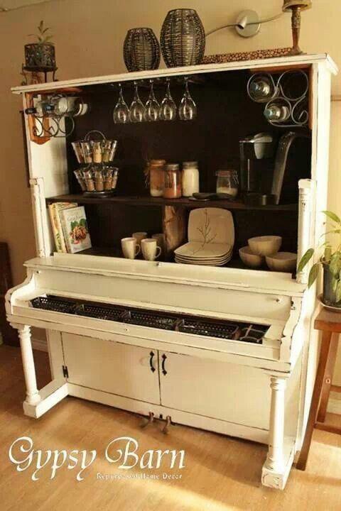 Repurpose an old piano...