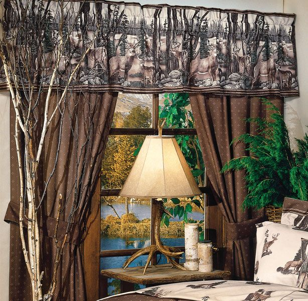 Nice Whitetail Dreams Curtain Drapes   Fits Windows Up To Pocket And Tie Backs.