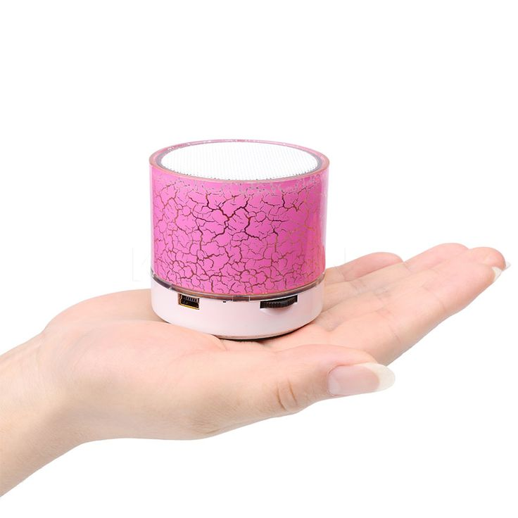 Portable Wireless Bluetooth Speaker Mini LED Light Colorful Loudspeakers Subwoofer Handsfree Stereo Music Speakers with Mic