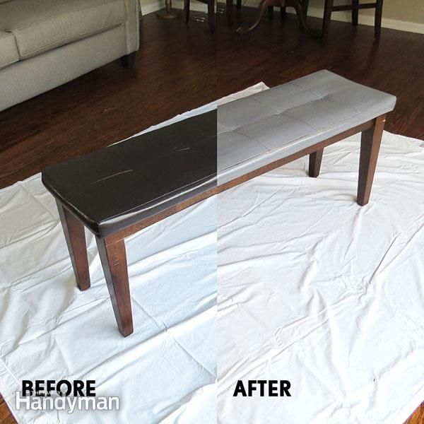 There are paints made specifically for painting leather furniture. In this project, we used paint, prep and finisher made by Angelus. They're available online and at some home-hobby stores. In addition to furniture, you can paint leather shoes, jackets, belts and bags in much the same way.