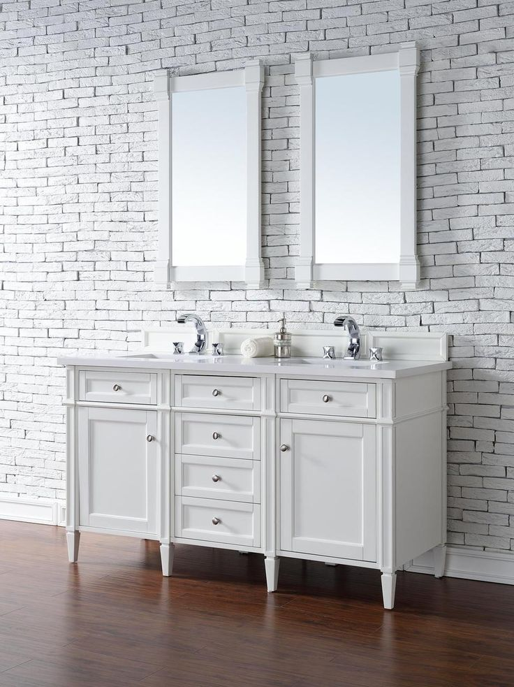 Contemporary 60 Inch Double Sink Bathroom Vanity Cottage
